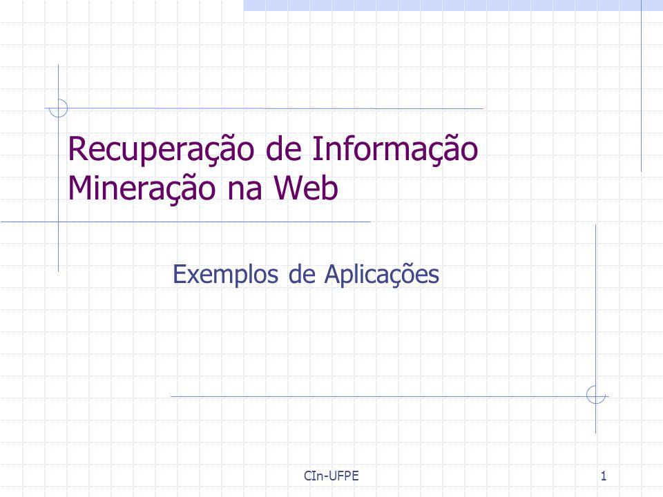 Recuperação de Informação Mineração na Web