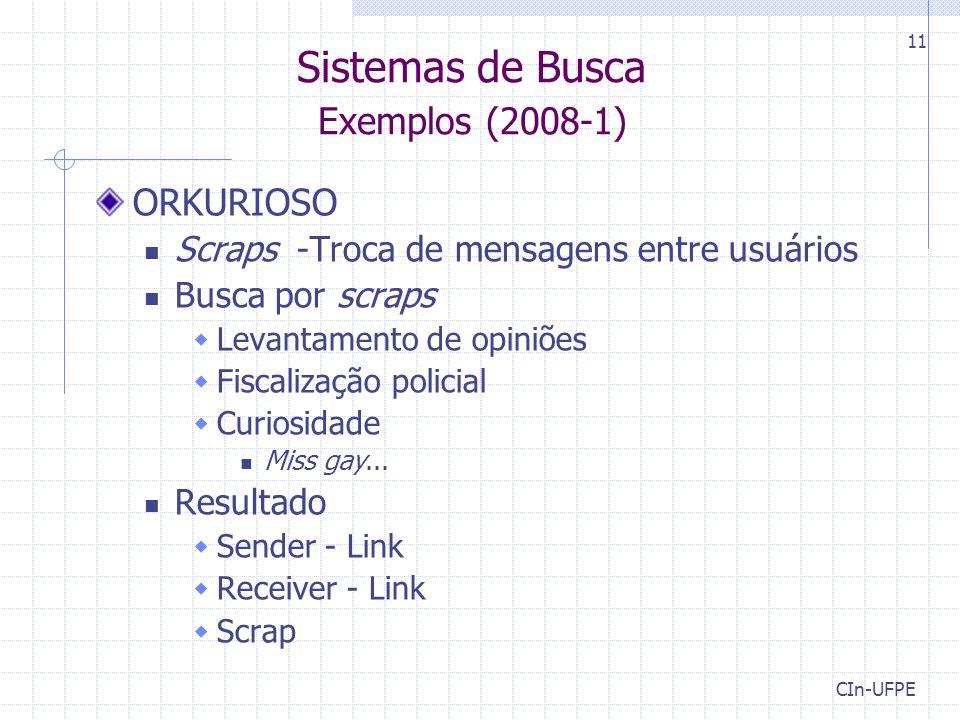 Sistemas de Busca Exemplos (2008-1)
