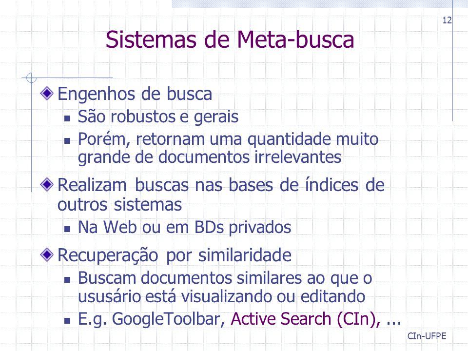 Sistemas de Meta-busca