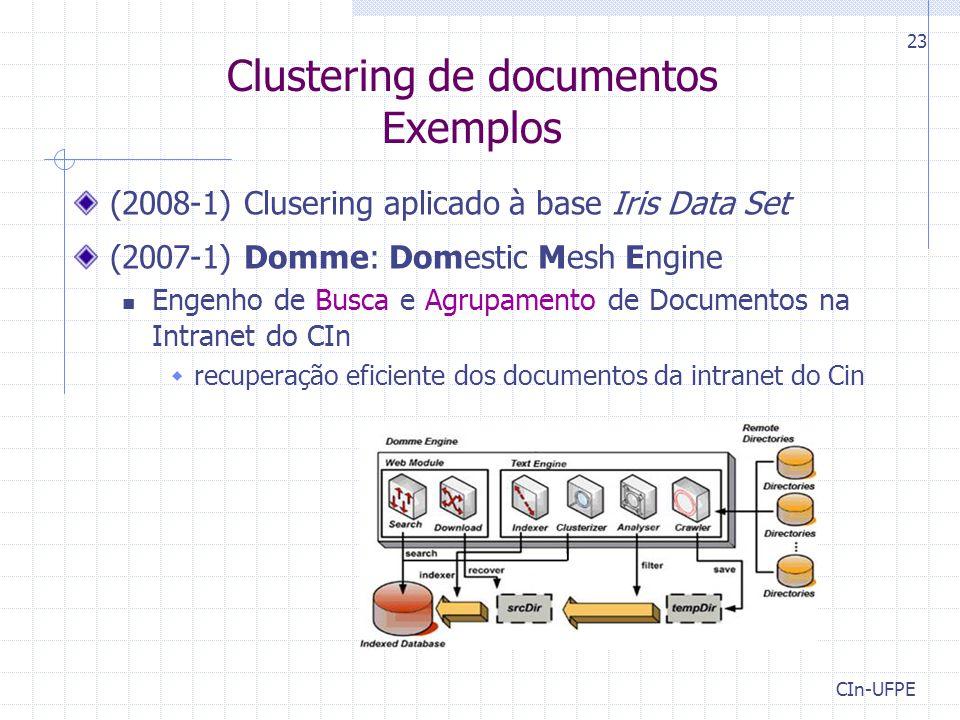 Clustering de documentos Exemplos