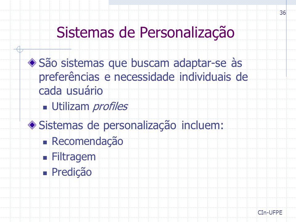 Sistemas de Personalização