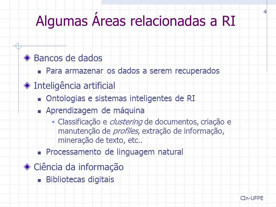 Algumas Áreas relacionadas a RI