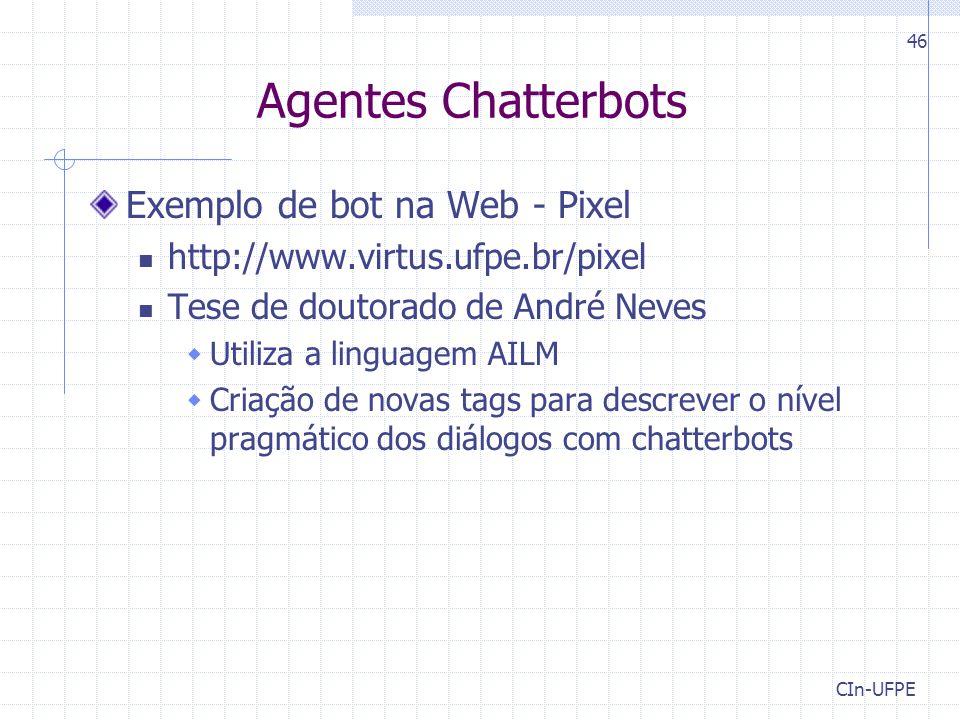 Agentes Chatterbots Exemplo de bot na Web - Pixel