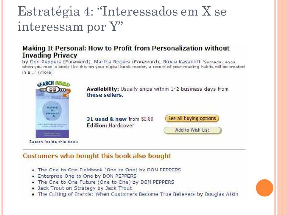 Estratégia 4: Interessados em X se interessam por Y