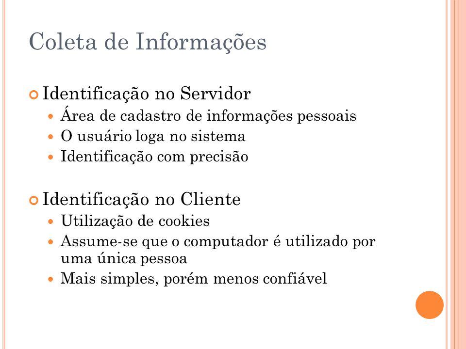 Coleta de Informações Identificação no Servidor