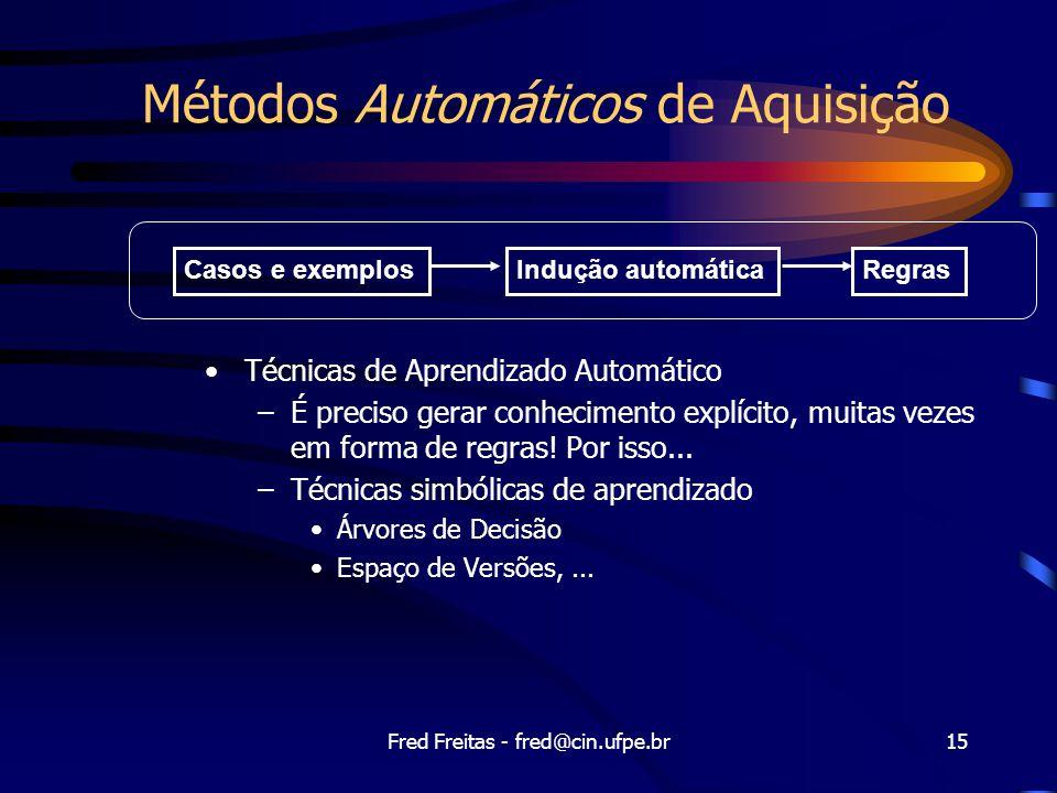 Métodos Automáticos de Aquisição