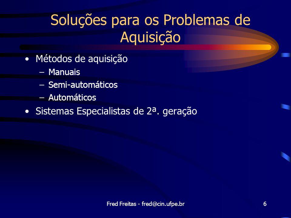Soluções para os Problemas de Aquisição