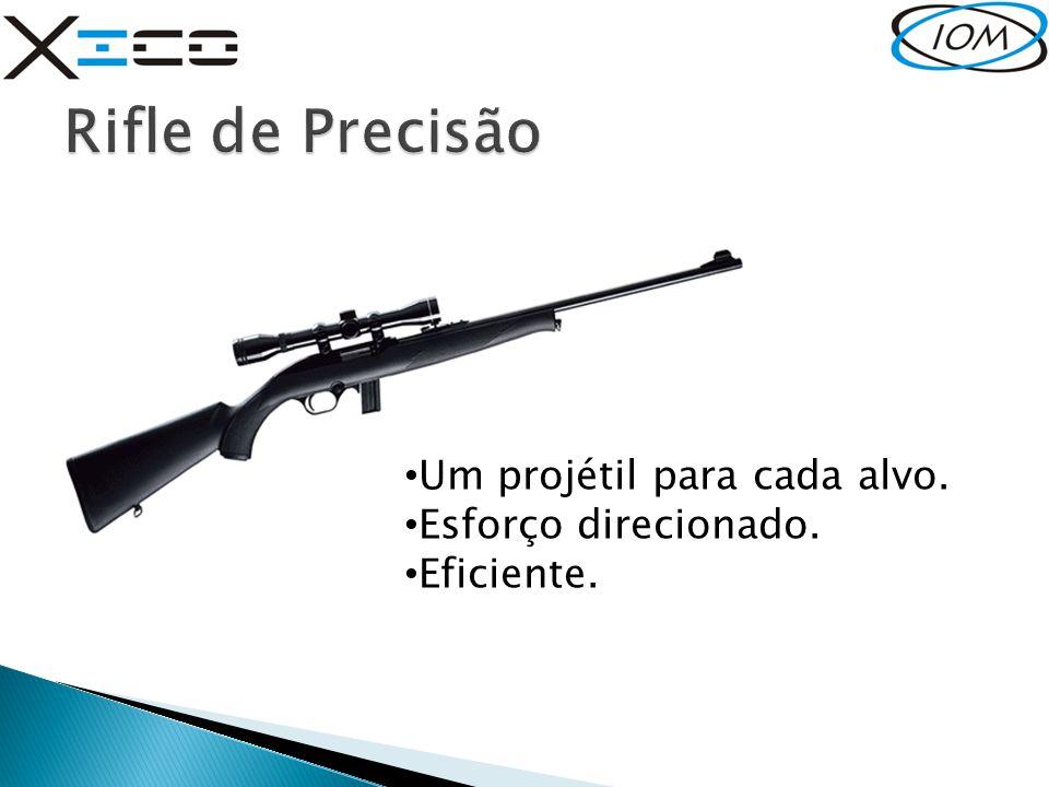 Rifle de Precisão Um projétil para cada alvo. Esforço direcionado.