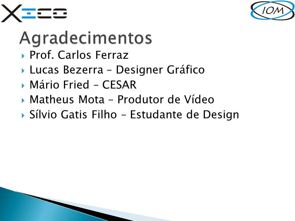 Agradecimentos Prof. Carlos Ferraz Lucas Bezerra – Designer Gráfico