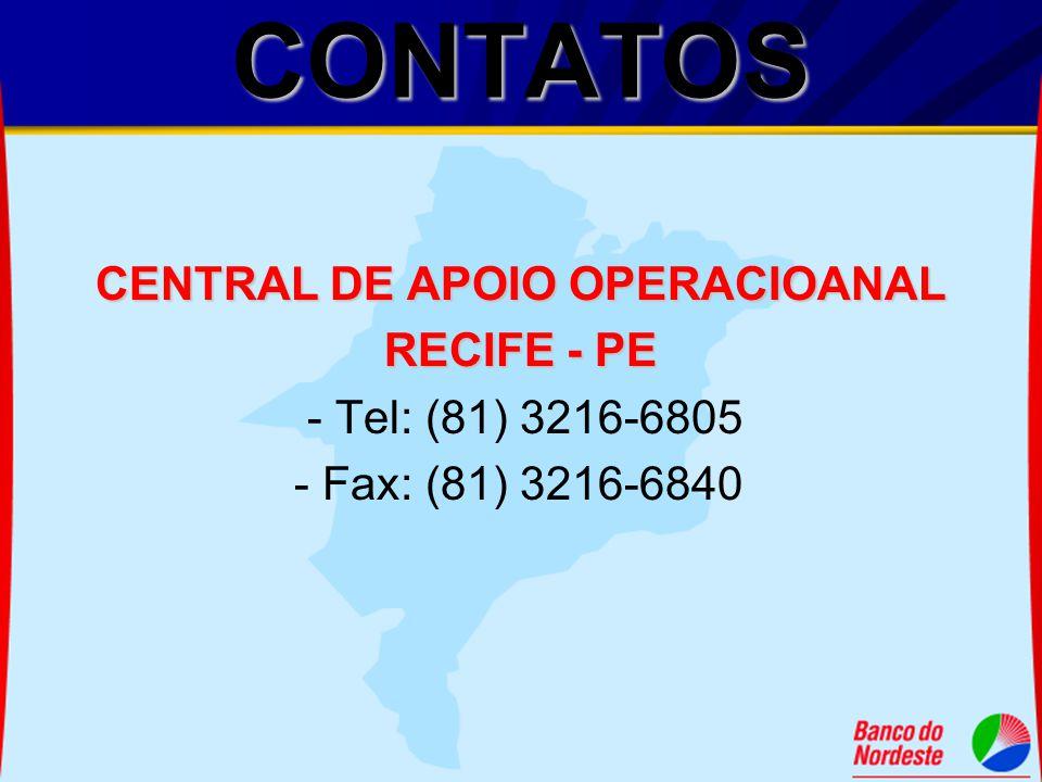 CENTRAL DE APOIO OPERACIOANAL