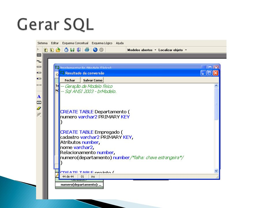 Gerar SQL