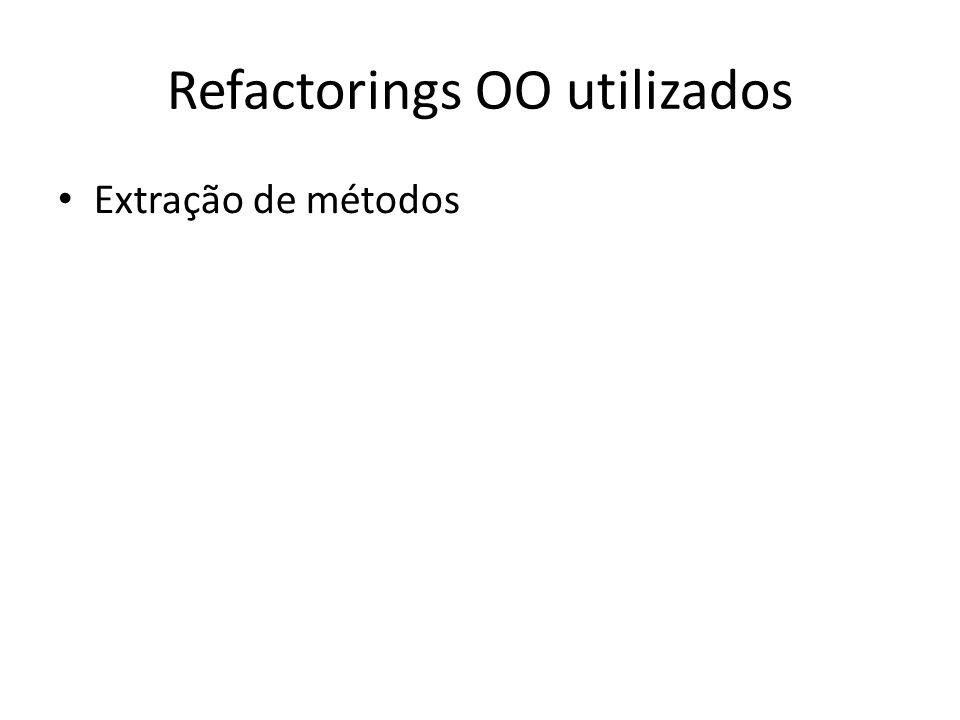 Refactorings OO utilizados