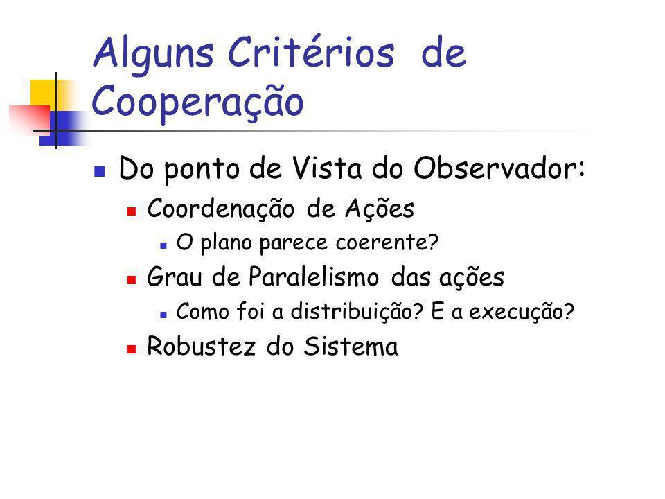 Alguns Critérios de Cooperação