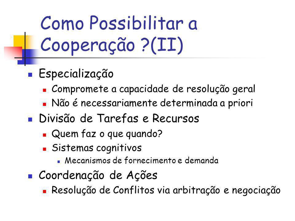 Como Possibilitar a Cooperação (II)