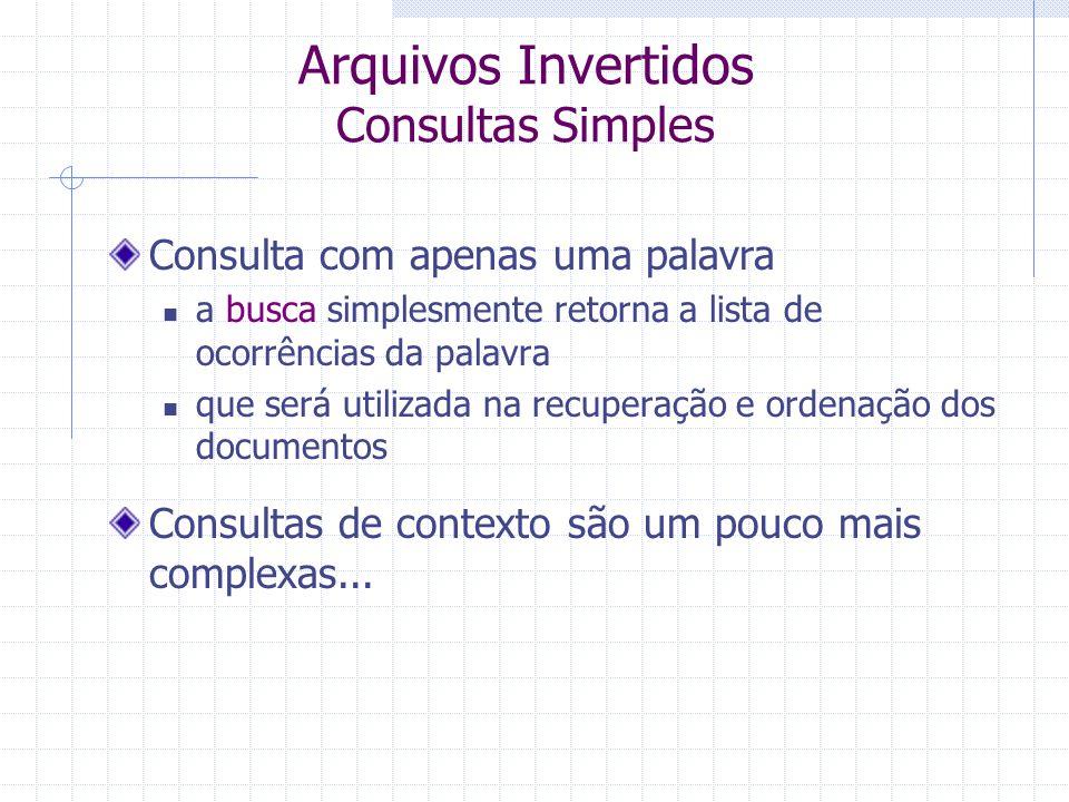 Arquivos Invertidos Consultas Simples