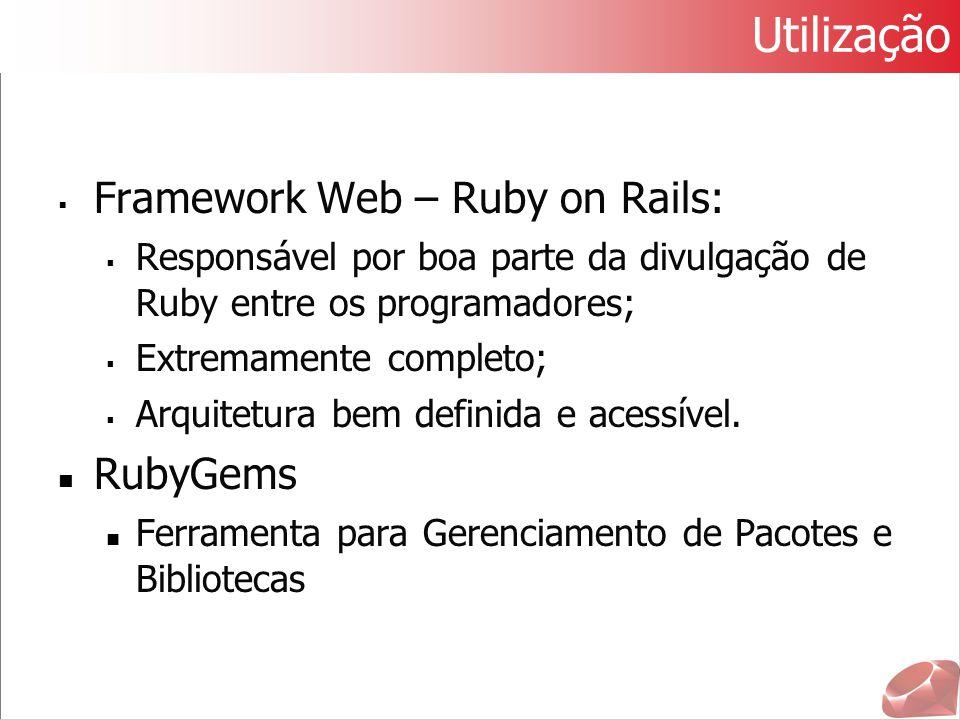 Utilização Framework Web – Ruby on Rails: RubyGems