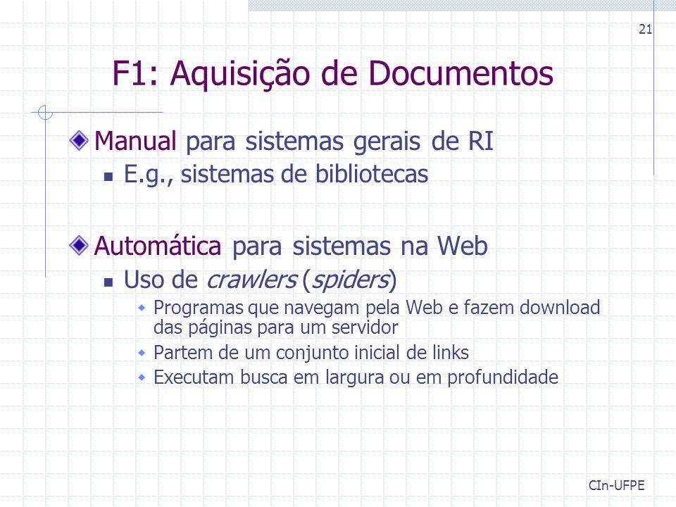 F1: Aquisição de Documentos
