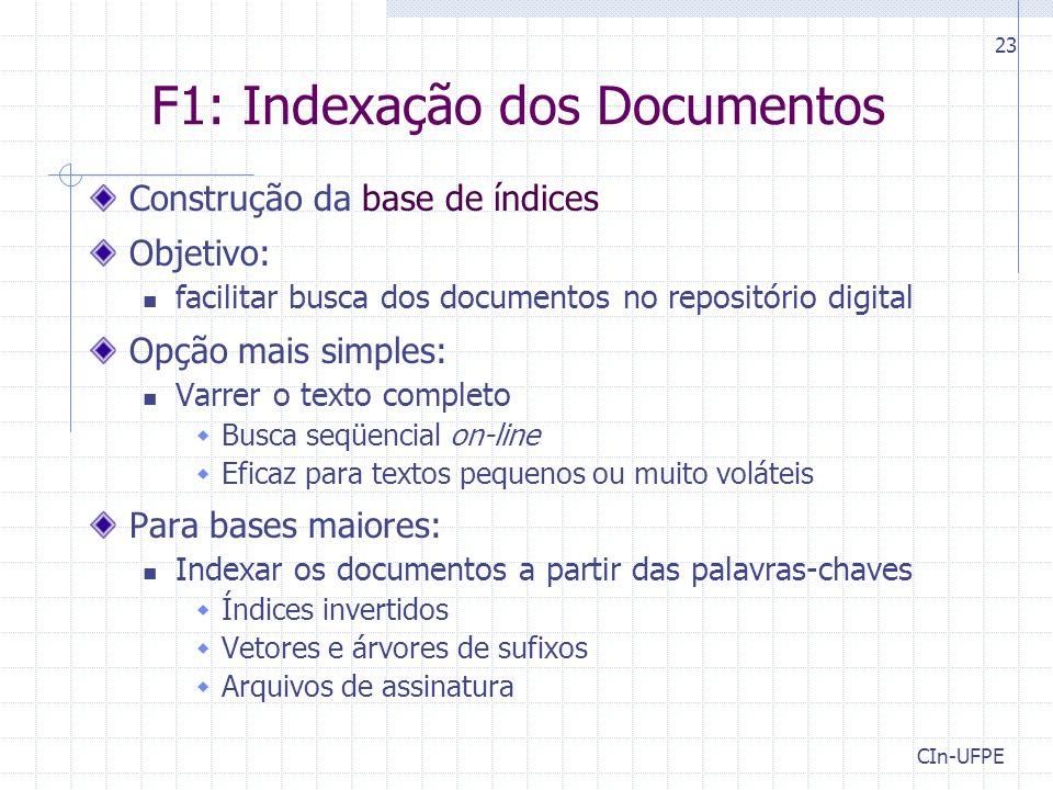 F1: Indexação dos Documentos