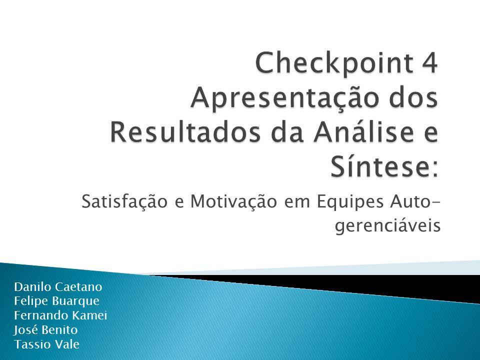 Checkpoint 4 Apresentação dos Resultados da Análise e Síntese: