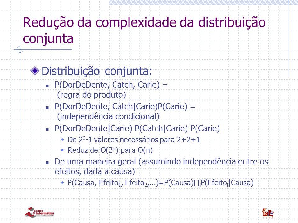 Redução da complexidade da distribuição conjunta