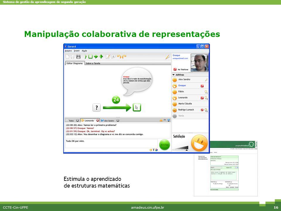 Manipulação colaborativa de representações