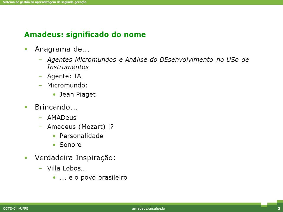 Amadeus: significado do nome