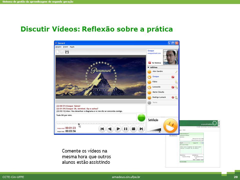 Discutir Vídeos: Reflexão sobre a prática