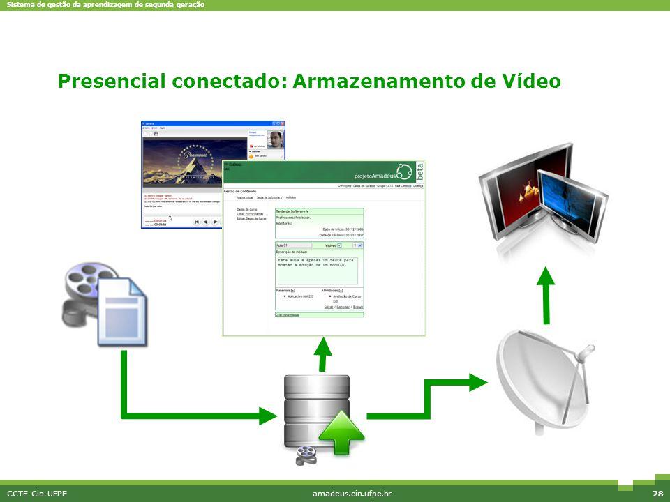 Presencial conectado: Armazenamento de Vídeo