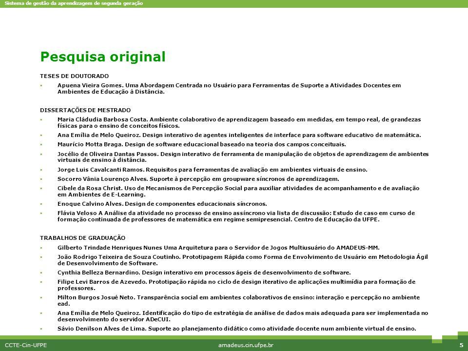 Pesquisa original TESES DE DOUTORADO