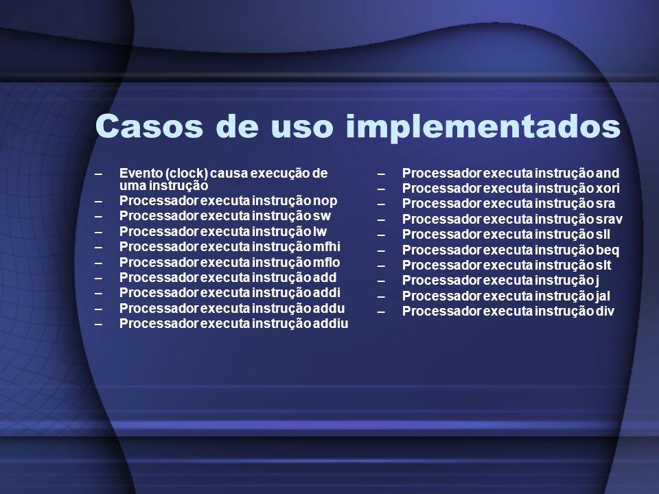 Casos de uso implementados