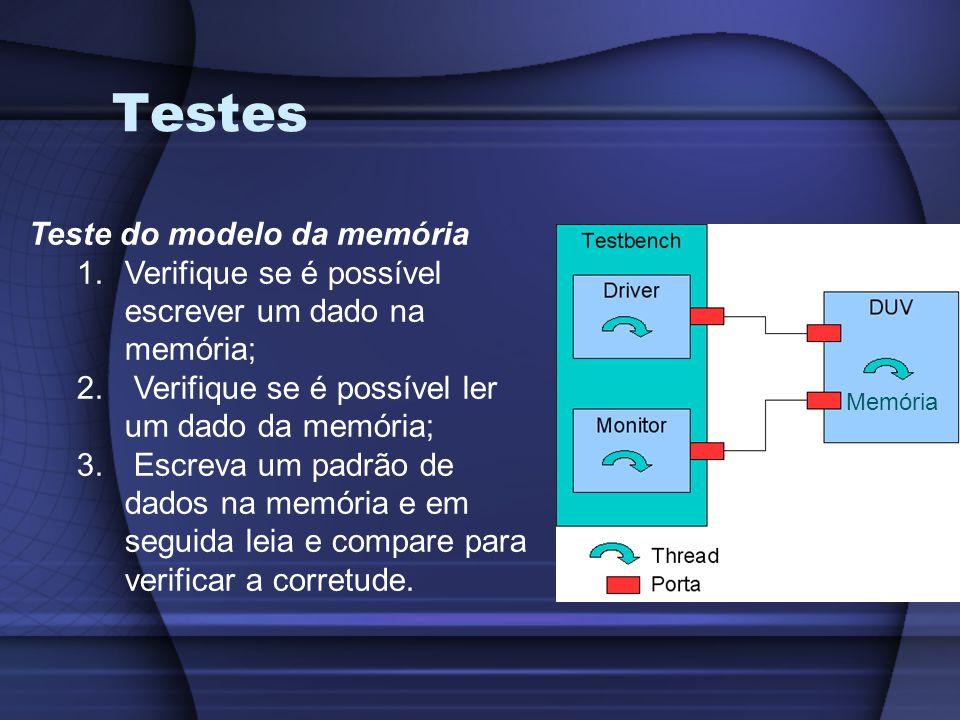 Testes Teste do modelo da memória