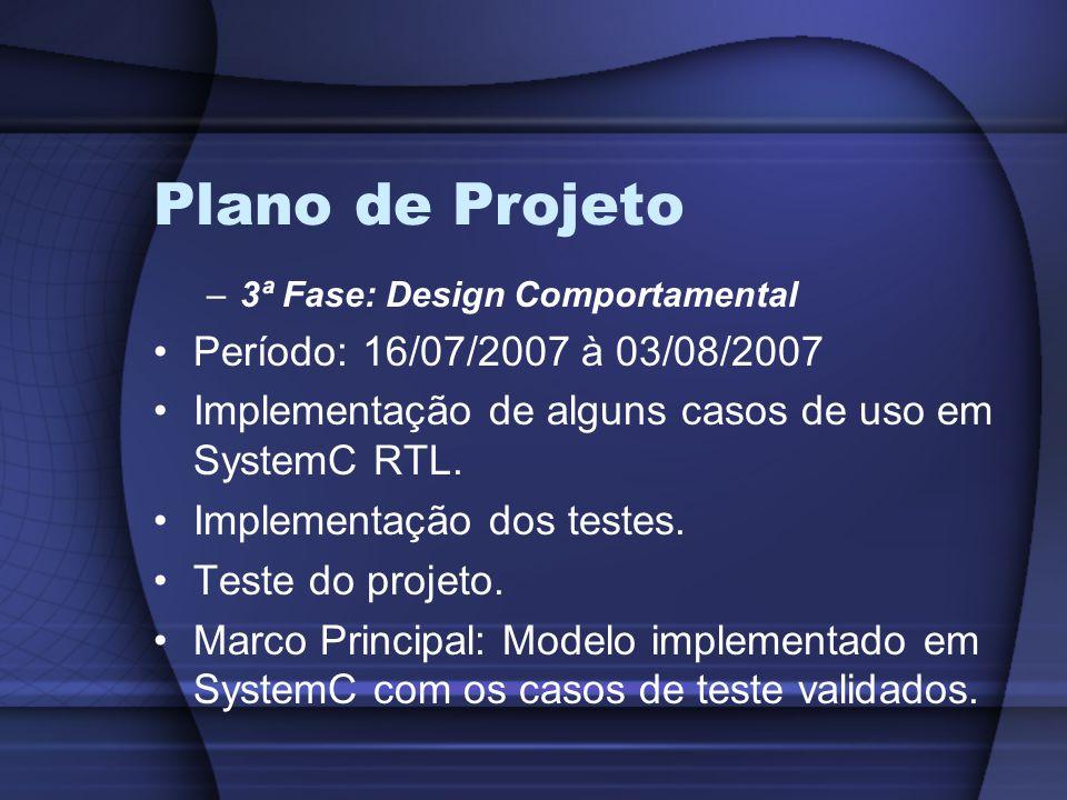 Plano de Projeto Período: 16/07/2007 à 03/08/2007