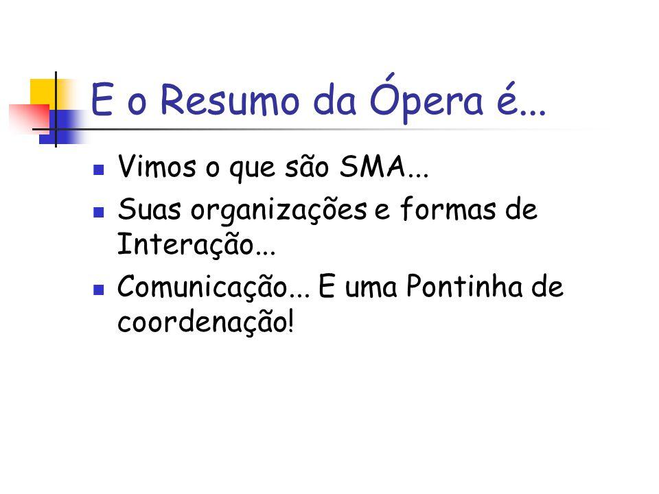 E o Resumo da Ópera é... Vimos o que são SMA...