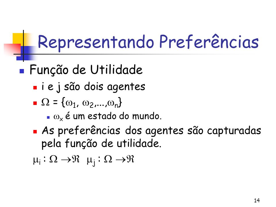Representando Preferências