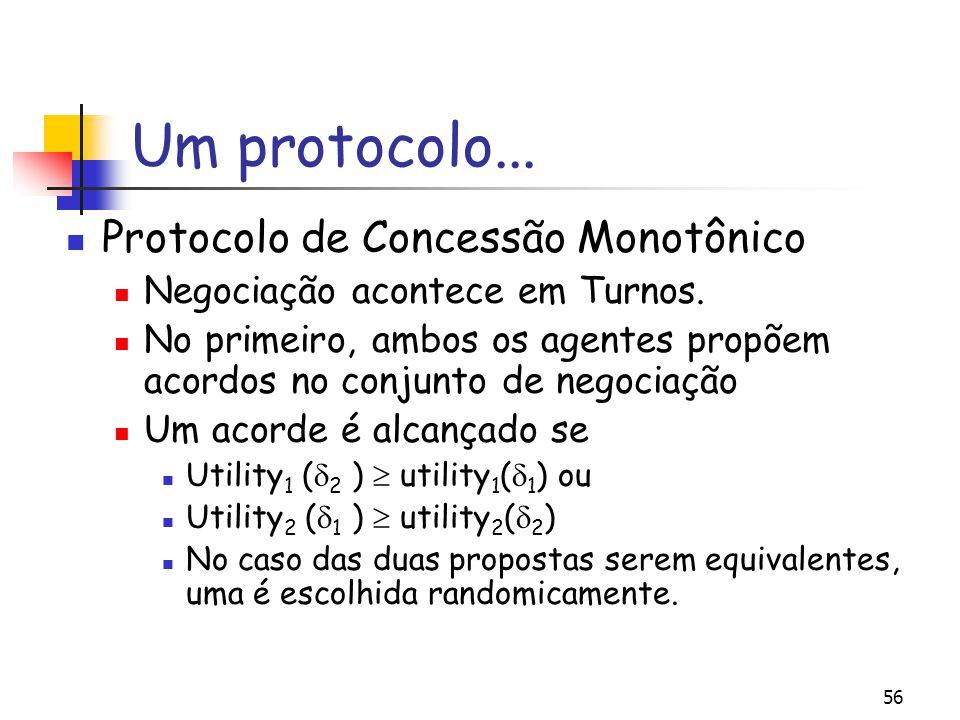 Um protocolo... Protocolo de Concessão Monotônico