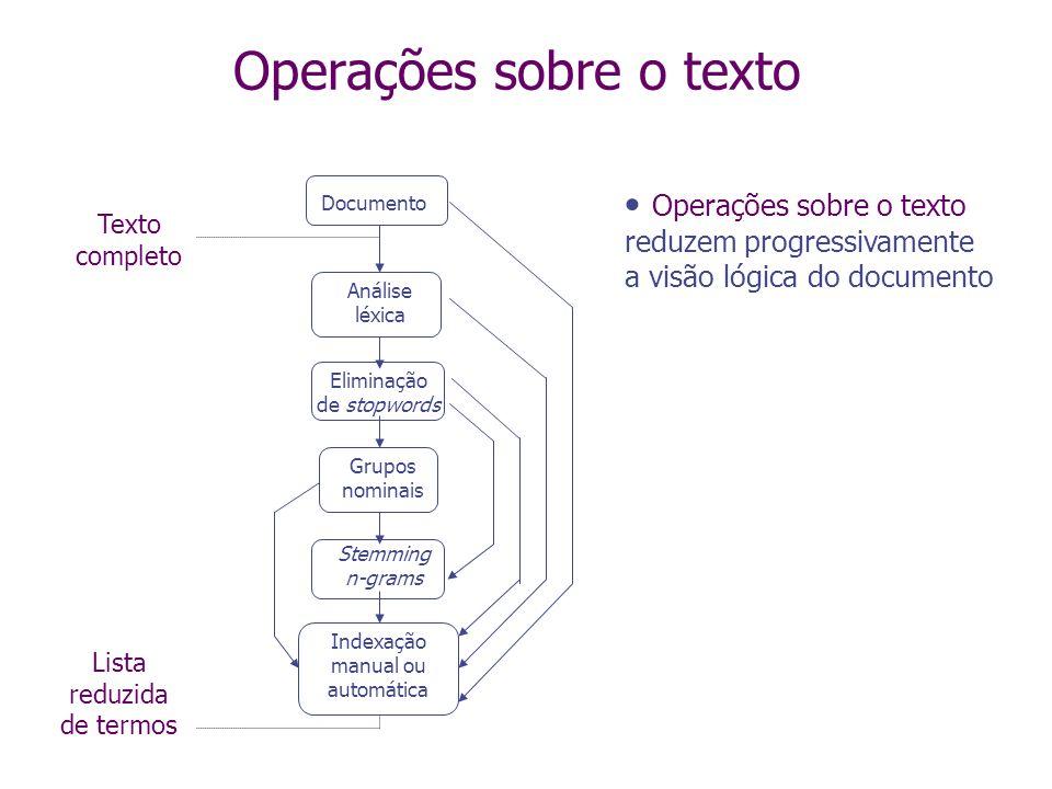 Operações sobre o texto