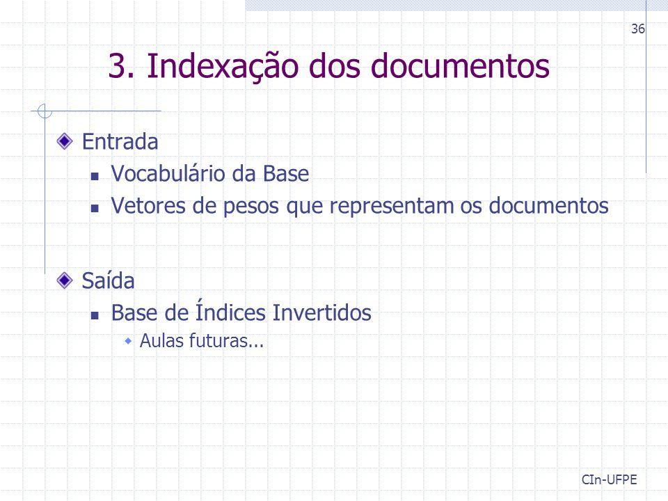 3. Indexação dos documentos