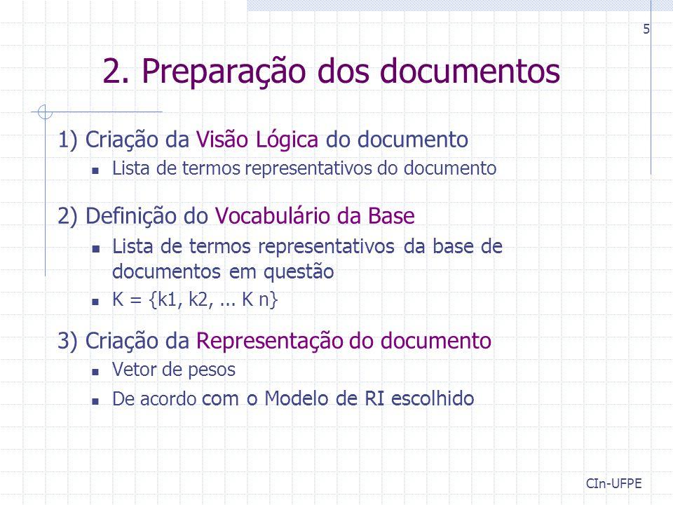 2. Preparação dos documentos