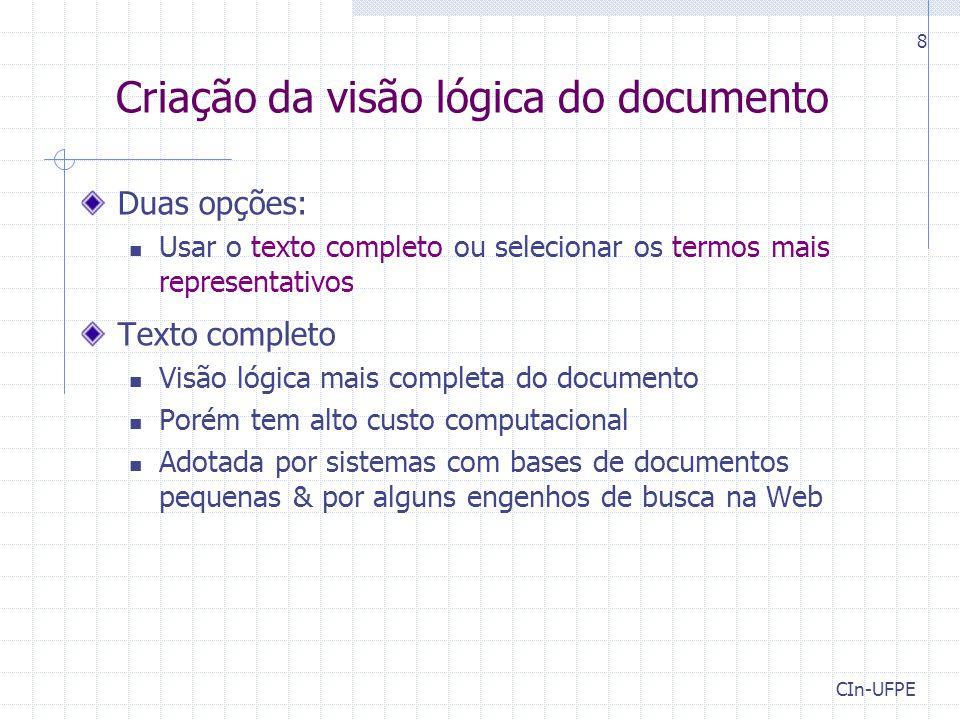 Criação da visão lógica do documento