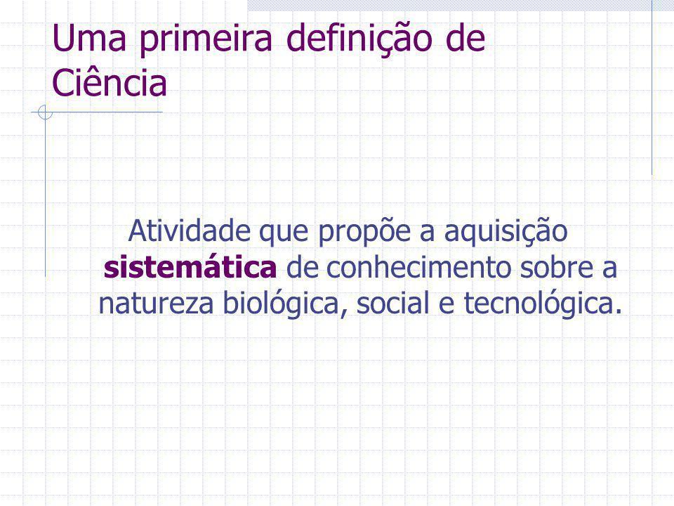 Uma primeira definição de Ciência
