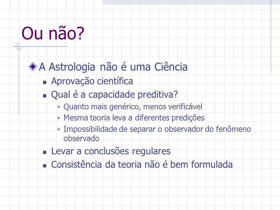 Ou não A Astrologia não é uma Ciência Aprovação científica