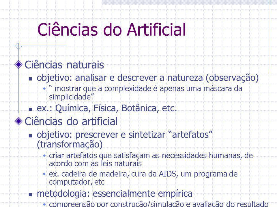 Ciências do Artificial