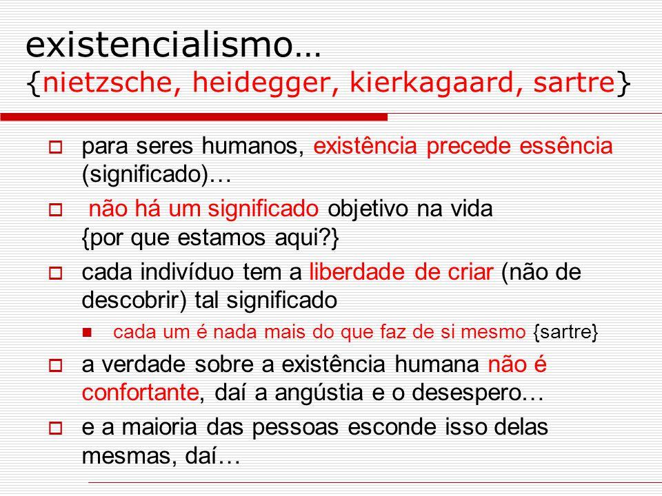 existencialismo… {nietzsche, heidegger, kierkagaard, sartre}