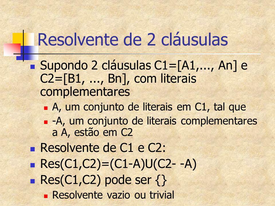 Resolvente de 2 cláusulas