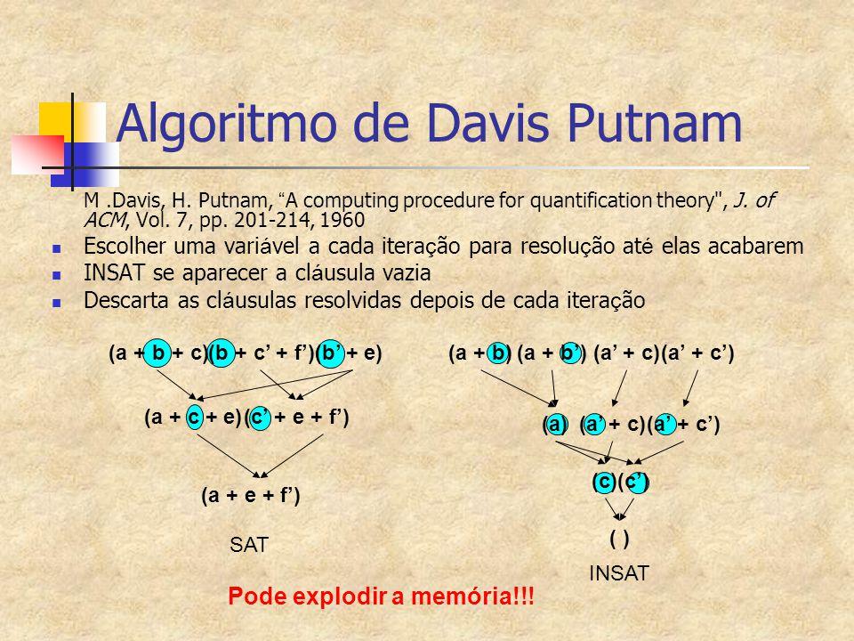 Algoritmo de Davis Putnam