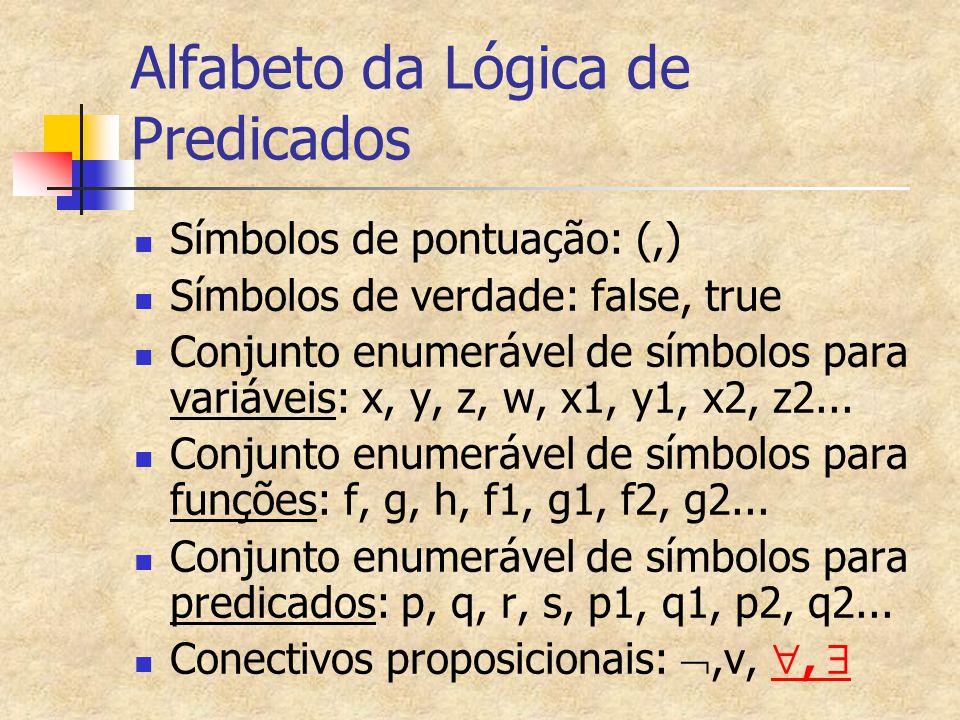 Alfabeto da Lógica de Predicados