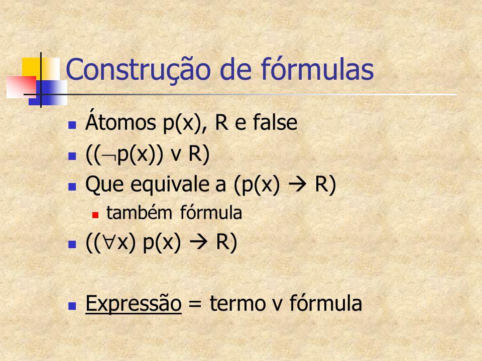 Construção de fórmulas