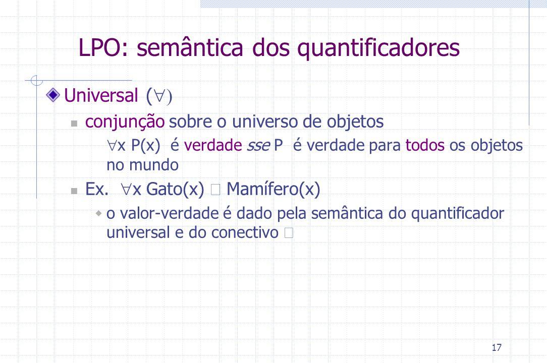 LPO: semântica dos quantificadores