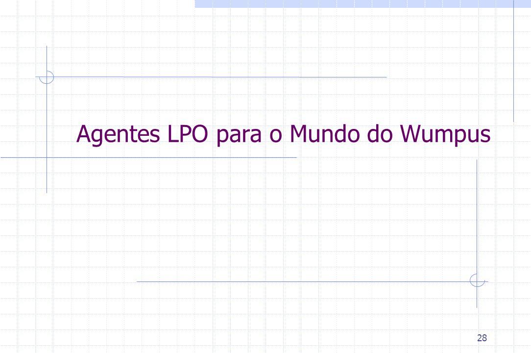 Agentes LPO para o Mundo do Wumpus