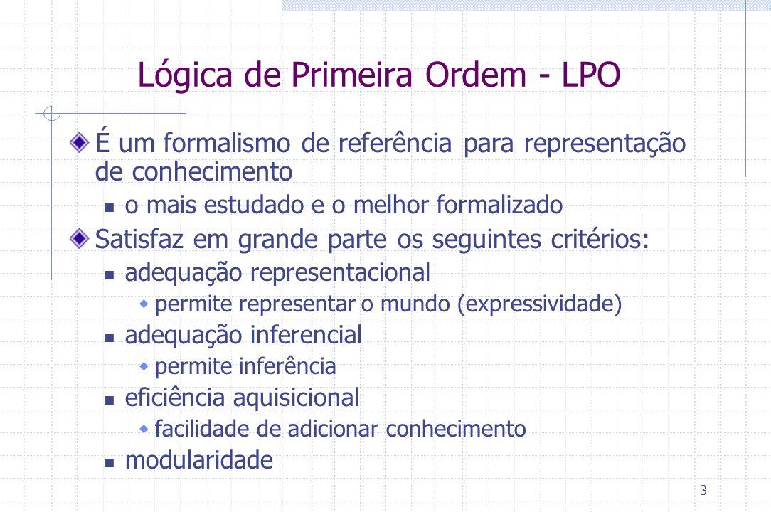 Lógica de Primeira Ordem - LPO